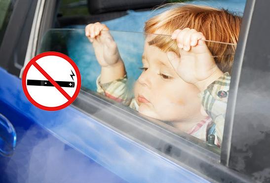 BELGIQUE : L'e-cigarette interdite en voiture avec les enfants !
