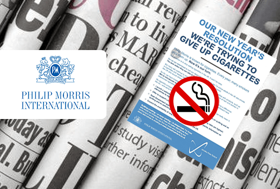 REGNO UNITO: Philip Morris annuncia fermate nelle vendite di giornali