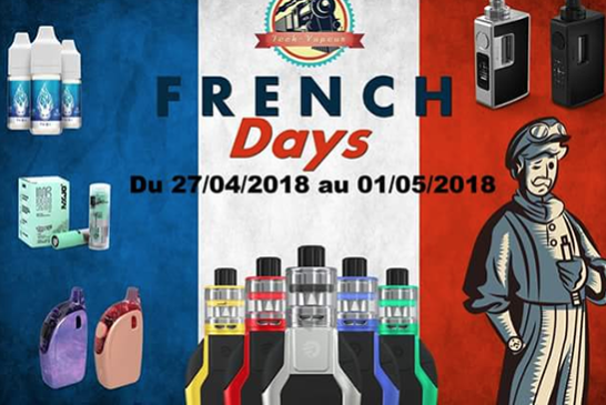 BON PLAN : Tech-Vapeur lance le « French days » avec 15% de réduction sur tout le site !