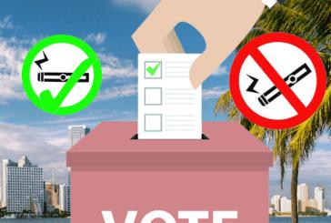ΗΝΩΜΕΝΕΣ ΠΟΛΙΤΕΙΕΣ: Ψηφοφορία από τους ανθρώπους της Φλόριντα για την απαγόρευση των ηλεκτρονικών τσιγάρων σε δημόσιους χώρους.