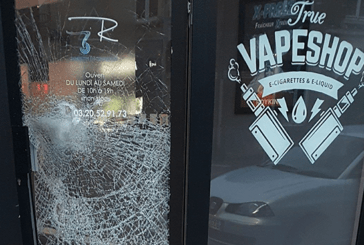 FRANCE : La boutique d'e-cigarette «R Concept» de Loos vandalisée durant la nuit.