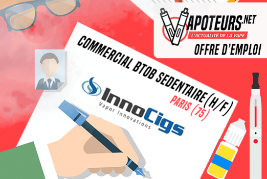 VACATURE: Sedentaire BtoB Sales Representative (M / V) - Innocigs - Parijs (75)