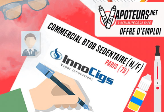 JOB OFFER: Sedentary BtoB Commercial (H / F) - Innocigs - Paris (75)
