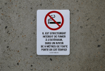 "CANADA: The measurement of ""9 meters"" against smoking is not included."