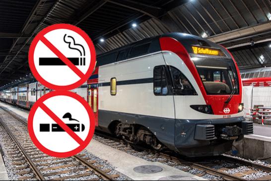 SUISSE : Une interdiction du tabac et de l'e-cigarette dans les gares en 2019.