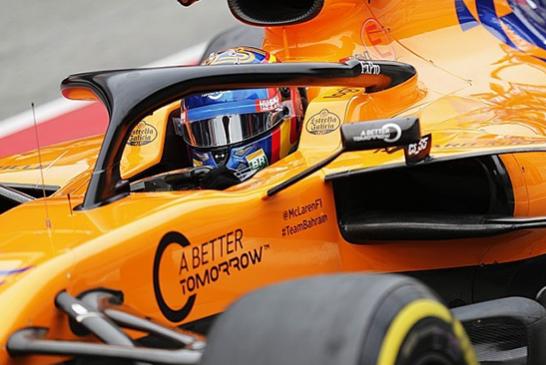 "ECONOMY: No logos ""A Better Tomorrow"" on the McLaren for the Australian Grand Prix"