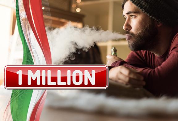 ITALIE : 1 million d'utilisateurs d'e-cigarettes dans le pays et 20% des fumeurs en route vers la transition !