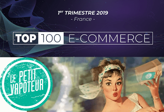 ECONOMY: The Little Vapoteur in the TOP 100 of French E-Commerce.