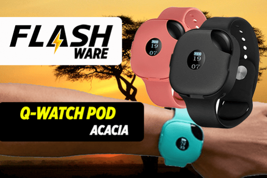 FLASHWARE : Q-Watch Pod (Acacia)