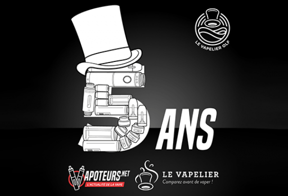 COMMUNIQUE: The Vapelier and Vapoteurs.net celebrate their 5 years of existence!