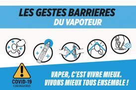 COVID-19: specifieke barrièrebewegingen voor vapers en vape-winkels!