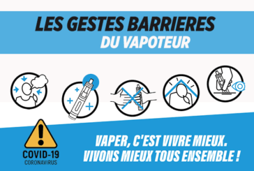 COVID-19: Specific barrier gestures for vapers and vape shops!