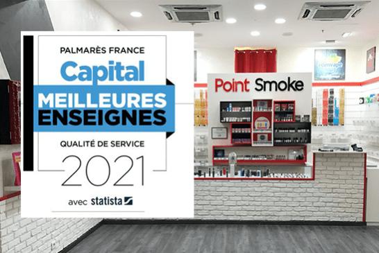 ECONOMIE : Point Smoke, Taklope, Vapostore, meilleures enseignes «vape» 2021 selon Capital.