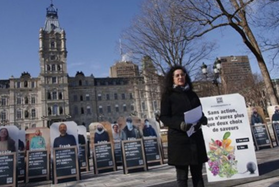 CANADA: A demonstration against the ban on flavored vaping