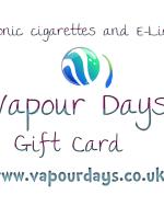 Gift card electronic cigarette vapour shop Bristol