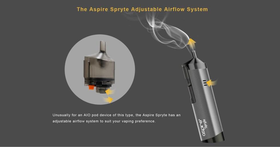 Aspire Spryte Adjustable Airflow Control