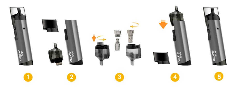 Aspire Spryte Coil Changing
