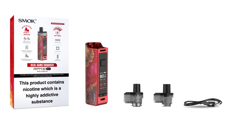 SMOK RPM80 Kit Contents