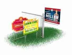 50 Yard Sign Step Stakes For Political Campaign and MORE! Wire Tip Yard Stakes