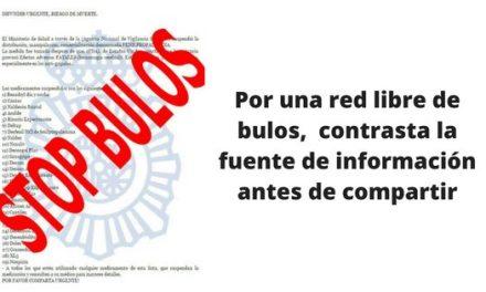 Stop bulos campaña de la Policia Nacional