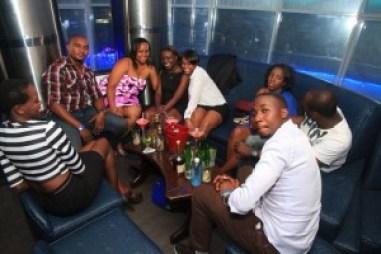 Friends having a good time at Aqua Blu Club & Lounge Bar