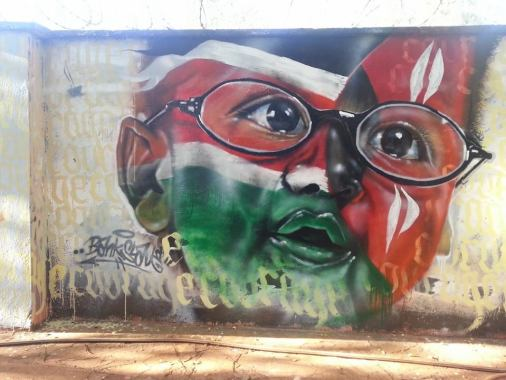 Graffiti by Bankslave on PAWA 254 wall
