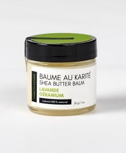 baume karite naturel lavande géranium
