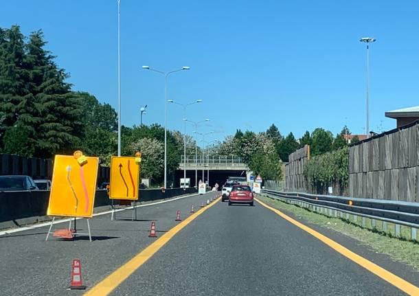 Malpensa freeway construction site