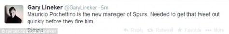 Criticsm: Gary Lineker's tweet