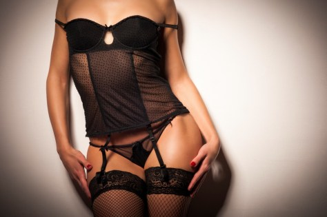 Young sexy woman wearing lingerie