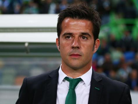LISBON, PORTUGAL - NOVEMBER 05: Head Coach Marco Silva of Sporting Lisbon looks on during the UEFA Champions League Group G match between Sporting Clube de Portugal and FC Schalke at Estadio Jose Alvalade 04 on November 5, 2014 in Lisbon, Portugal. (Photo by Alex Grimm/Bongarts/Getty Images)