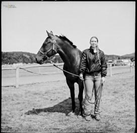 Kovács Gabriella lovával