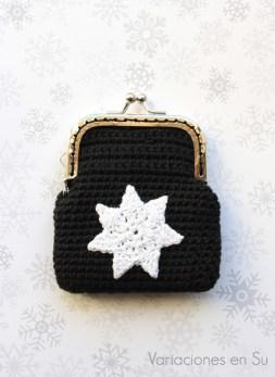 monedero-ganchillo-negro-estrella-blanca-1