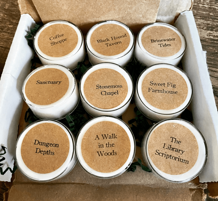 9 tea light candles in a box