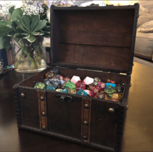 Wooden Chest of Dice