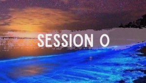 Text Reads: Session 0 over an ocean at night