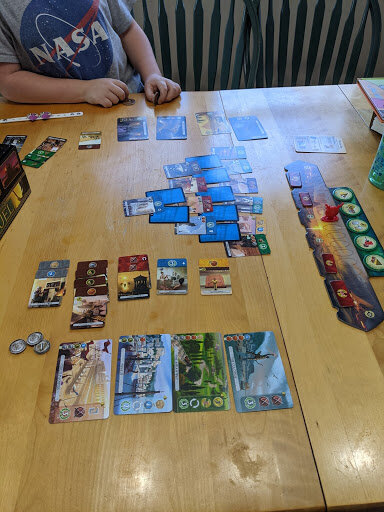 7 Wonders Duel gameplay in action
