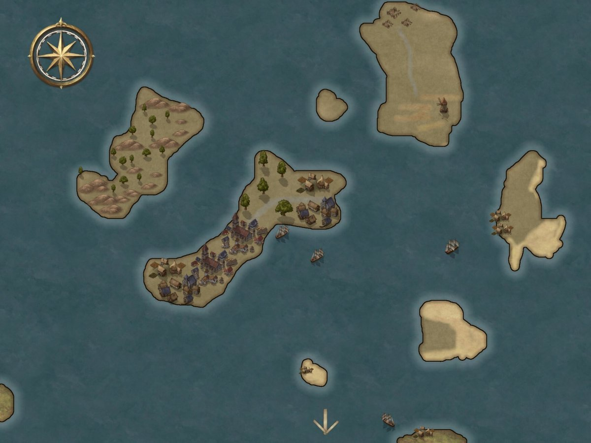 map of several small fictional islands