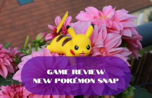 Text reads Game Review New Pokemon Snap