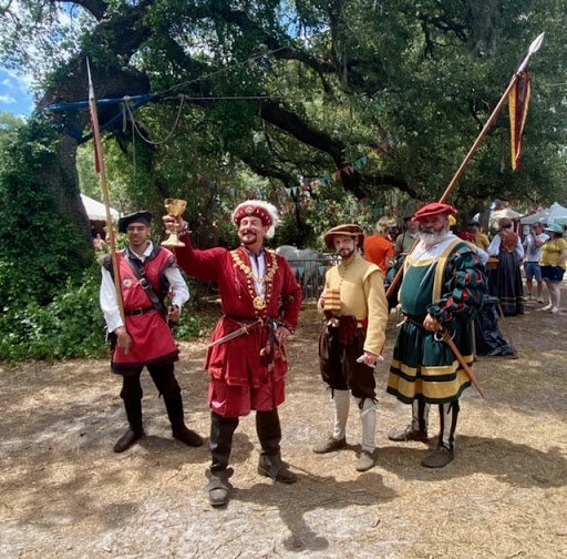 The King of the faire with his entourage