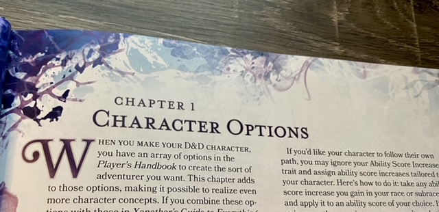 Chapter 1 Character Options