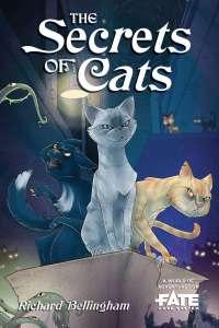 Text reads: The Secrets of Cats. Richard Bellingham