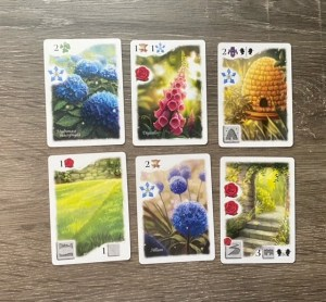 six of the garden element cards for Flourish