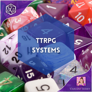 Text reads TTRPG Systems