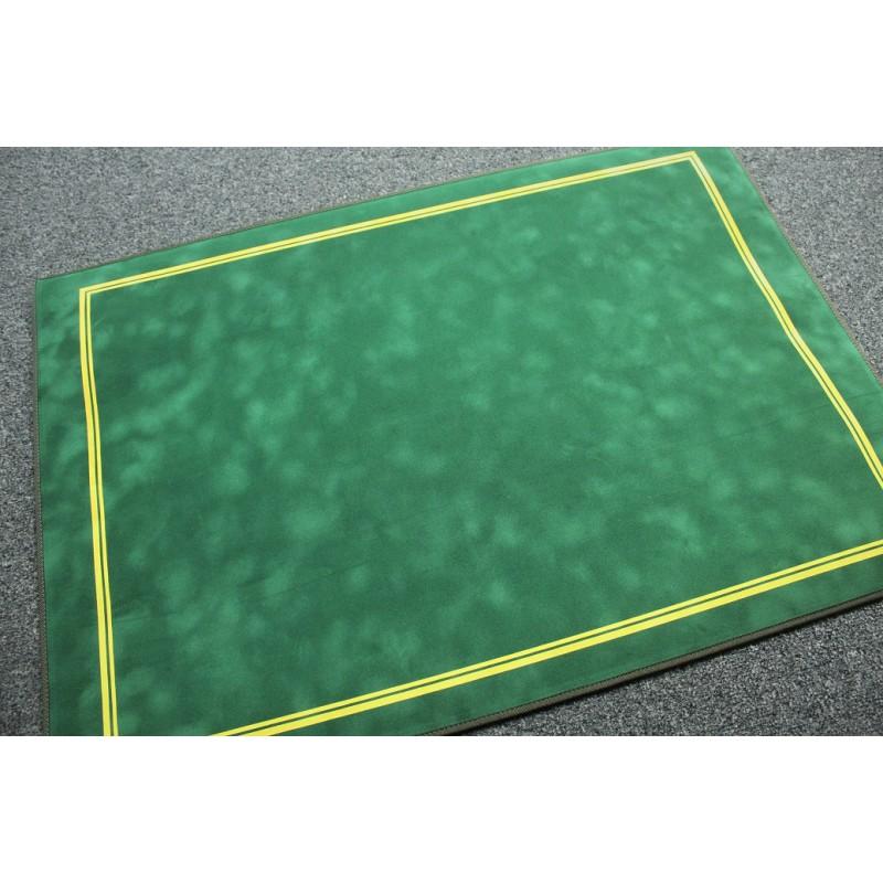 tapis de cartes deluxe suedine 70x50cm vert galonne