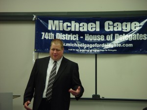 Michael Gage at Va. Victory Wednesday