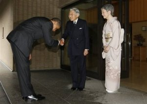Obama prostrates himself