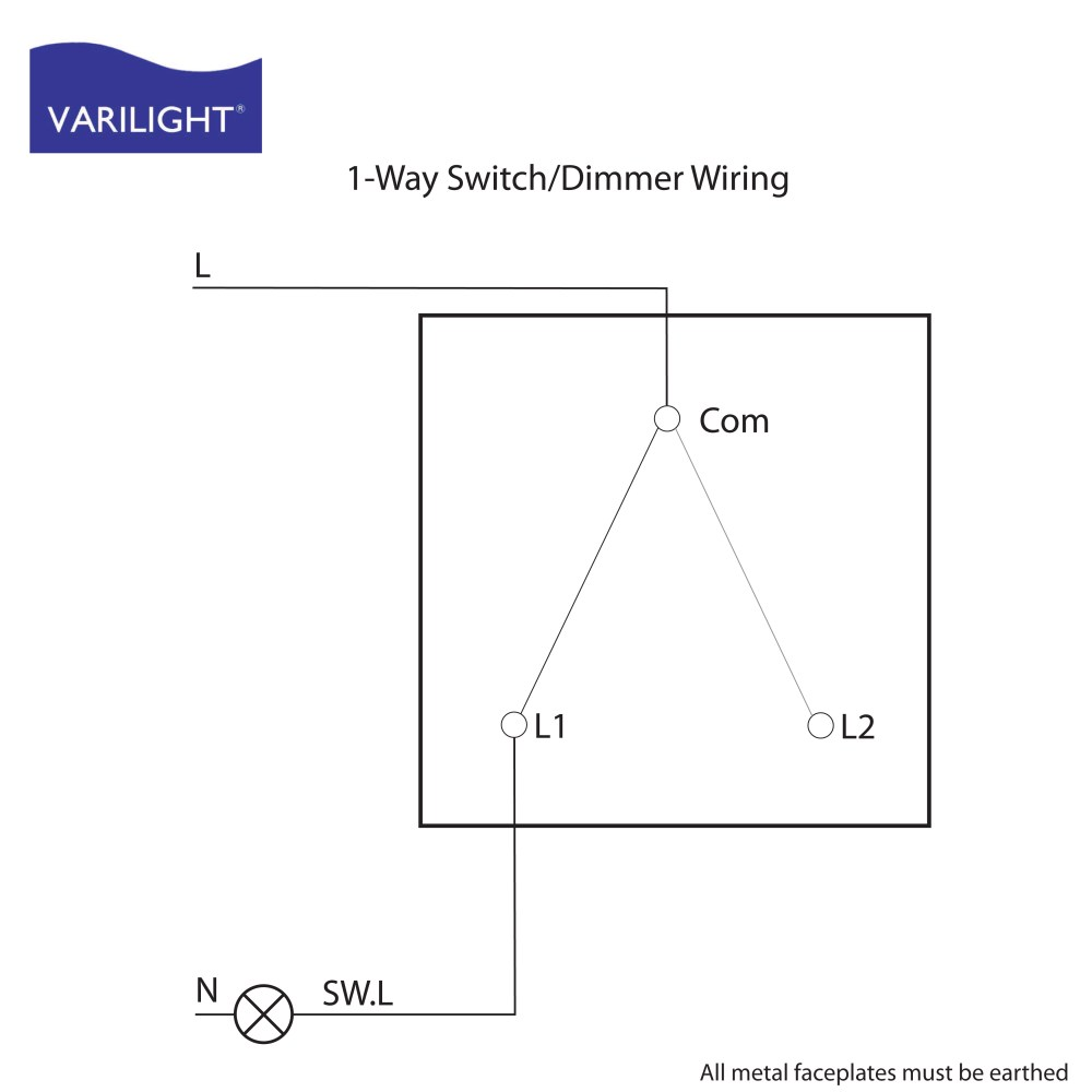 medium resolution of 1 way switch dimmer wiring