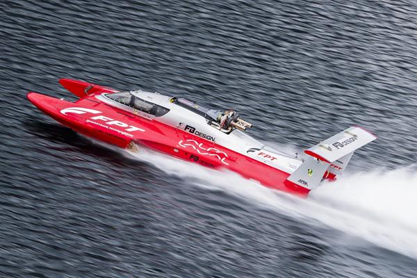 ρεκόρ ταχύτητας  με σκάφος Fabio Buzzi
