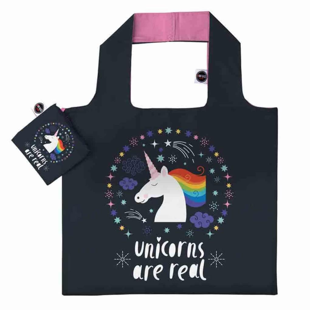 ANYBAGS shoppingkasse Black Unicorn